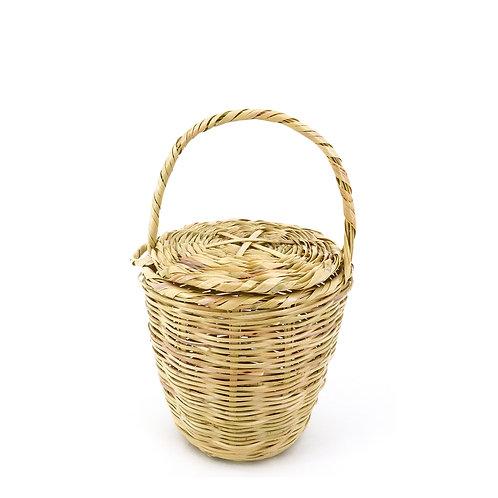 Icone Picnic Market Basket Korb Tasche / XS / Beige / Weidenkorb
