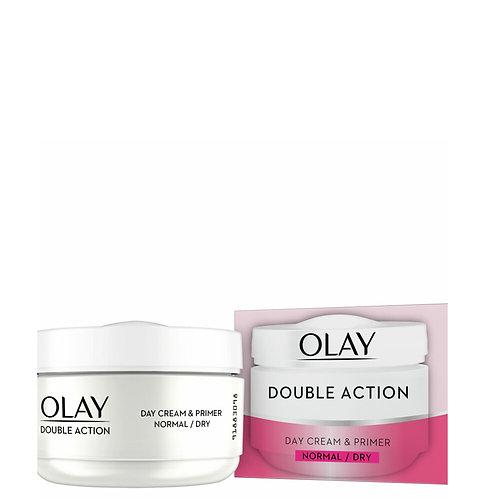 50ml Oil of Olaz Olay Double Action Tagescreme & Primer | Normale&trockene Hau