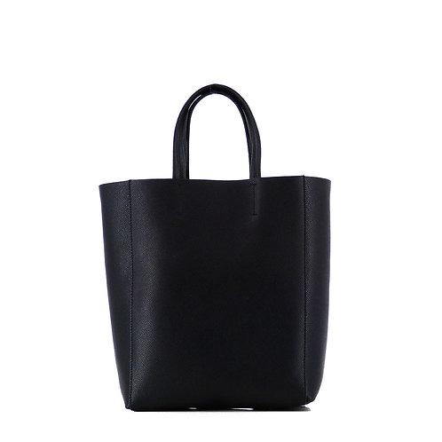 Pernilla 21 Epsom Pattern Leder Tasche . Schwarz