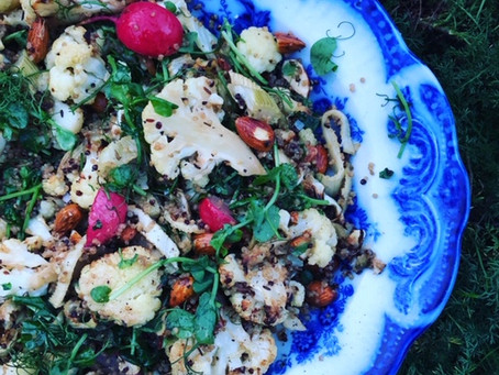 Smoked trout, roasted fennel, radish cauliflower & watercress salad