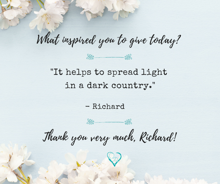 What inspires you to give?