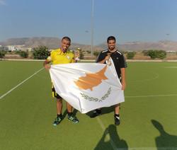 Antonis Efthymiou ( C ) and Savvas Hadjigeorgiou with Best Goalie and Fair Play awards