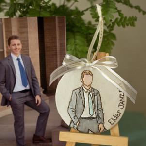 Custom LDS Missionary Portrait Ornament