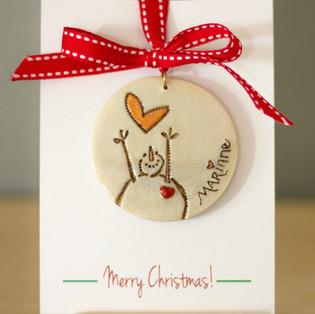 Adorable Reaching Snowman Ornament