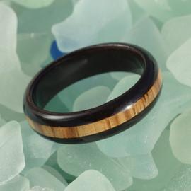 Ebony core and edges with Zebrawood cross grain stripe