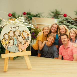 Custom Family Portrait Ornaments