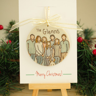 Custom Family Portrait Ornament