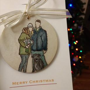 Custom Couple Ornament