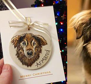 Custom Pet Portrait Ornaments