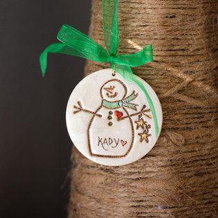 Snowman with Stars Ornament