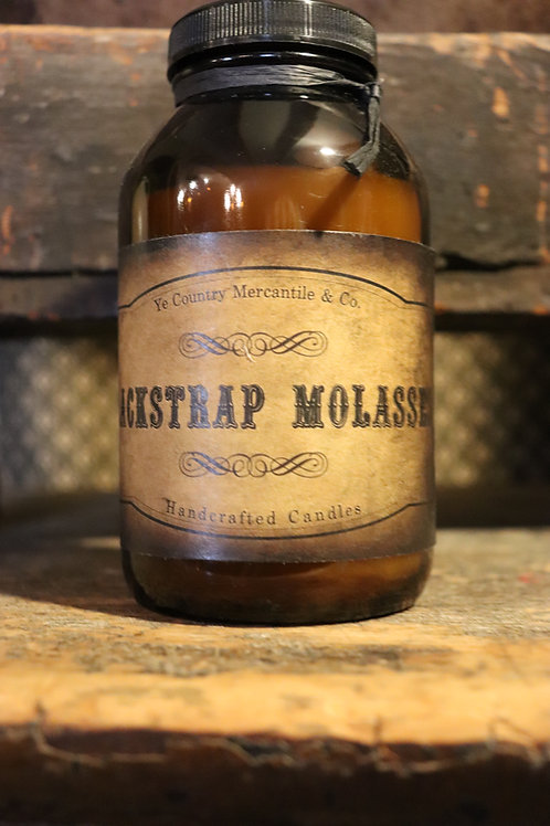 Hand poured 16 oz Jar Blackstrap Molasses