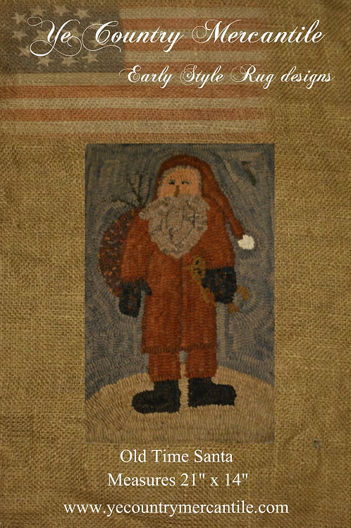 Old Time Santa on Linen