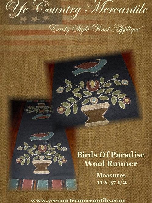 Birds of Paradise Penny Rug Pattern