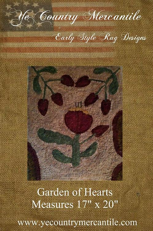 Garden of Hearts on Linen