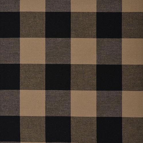 #1005 Tavern Check Black-Ecru per yard Grade A Fabric