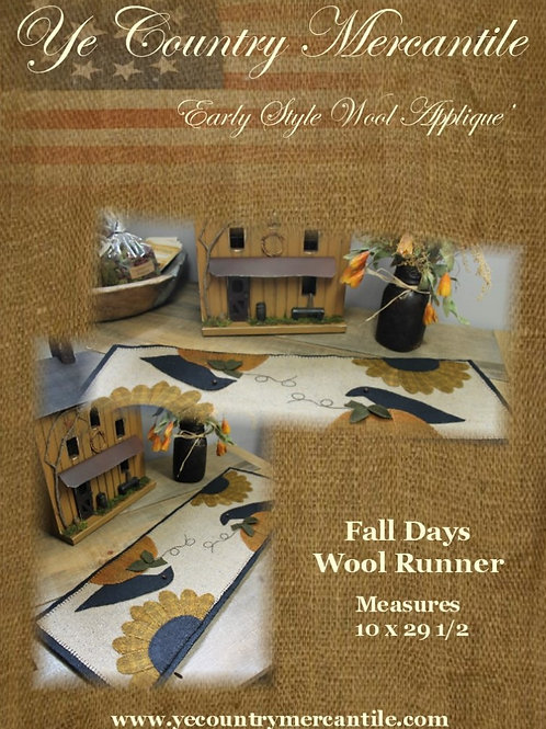 Fall Days Penny Rug Pattern