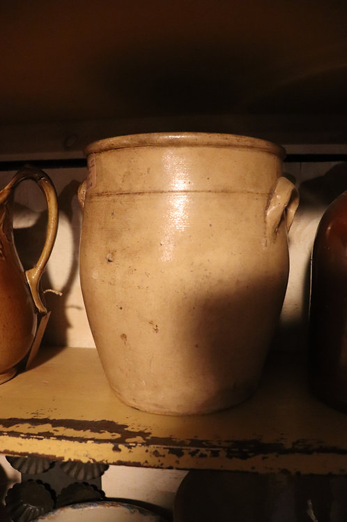 Salt glaze crock