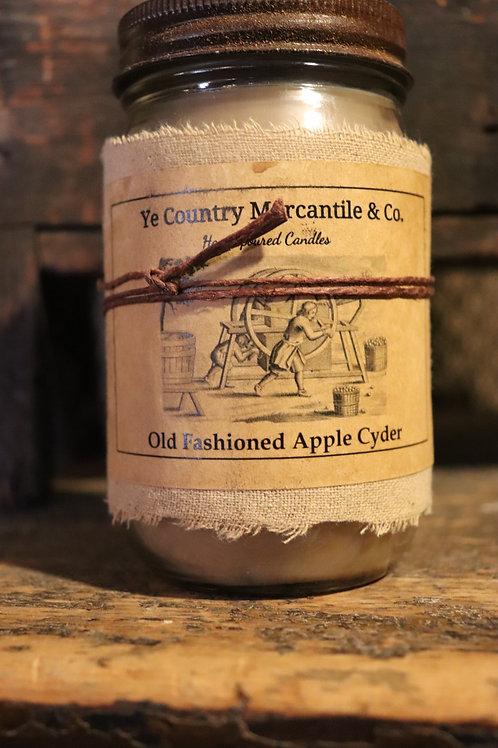 Hand poured 16 oz Jar Old fashion Apple Cyder