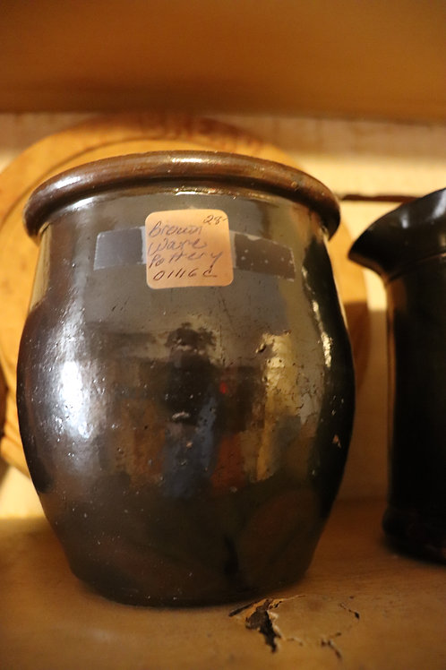 Small Brown ware crock