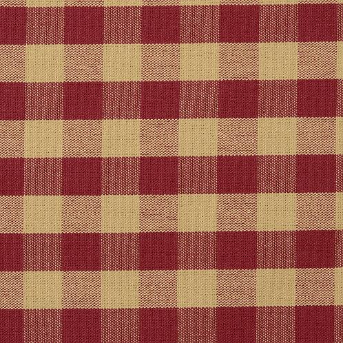 #1003  Tavern Check Fabric Ecru-Rose per yard  Grade A Fabric