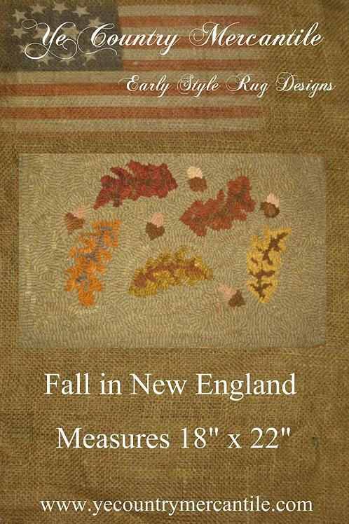Falling Leaves on Linen
