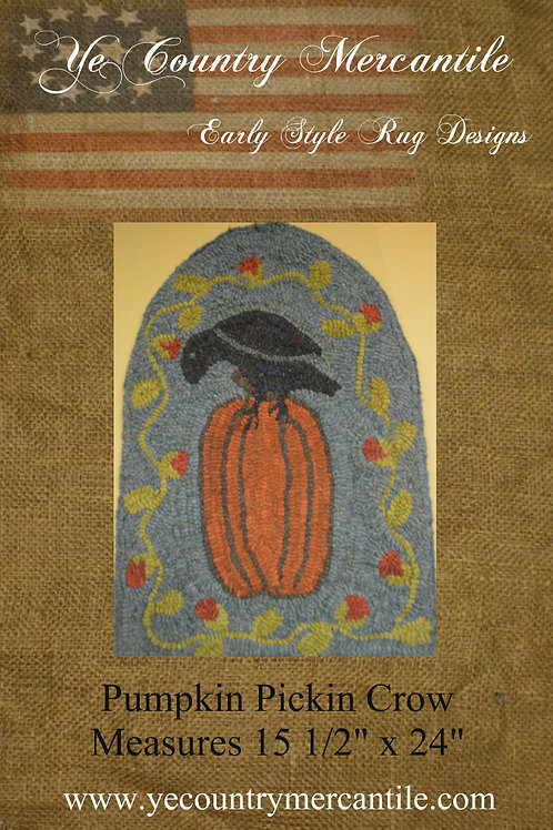 Crows and Pumpkins on Linen
