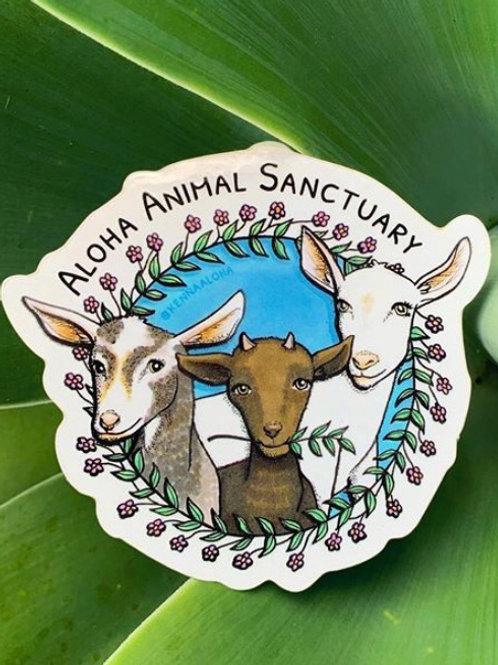 Goat Ohana Sticker