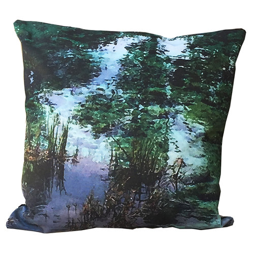 """""""Reflections on water"""" Outdoor Cushion"""