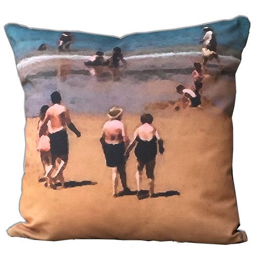 """""""Love at the Beach"""" Outdoor Cushion"""