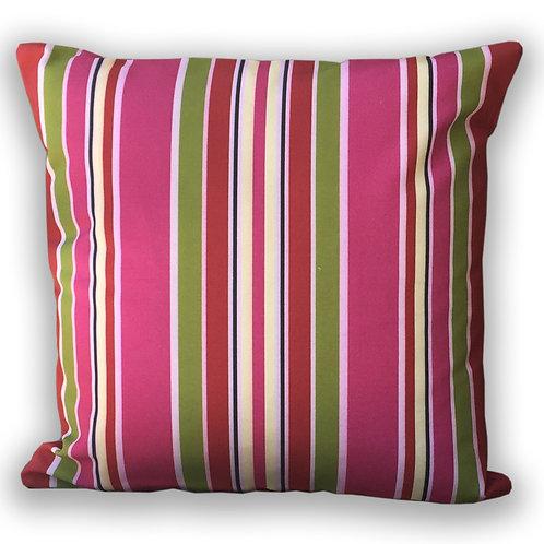 """Crabapple Stripe"" Outdoor Cushion"