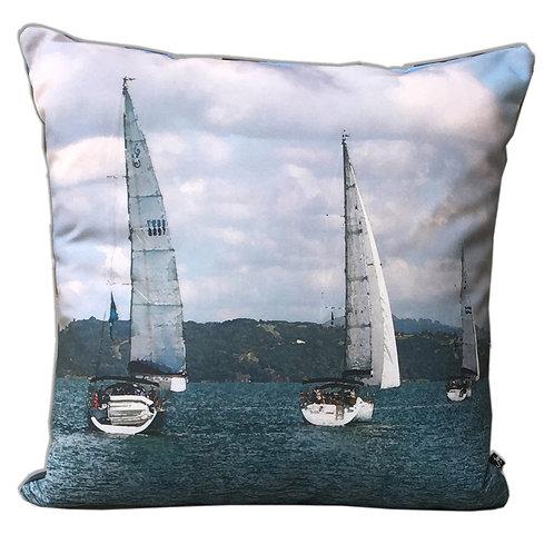 """""""Yacht Race"""" Outdoor Cushion"""