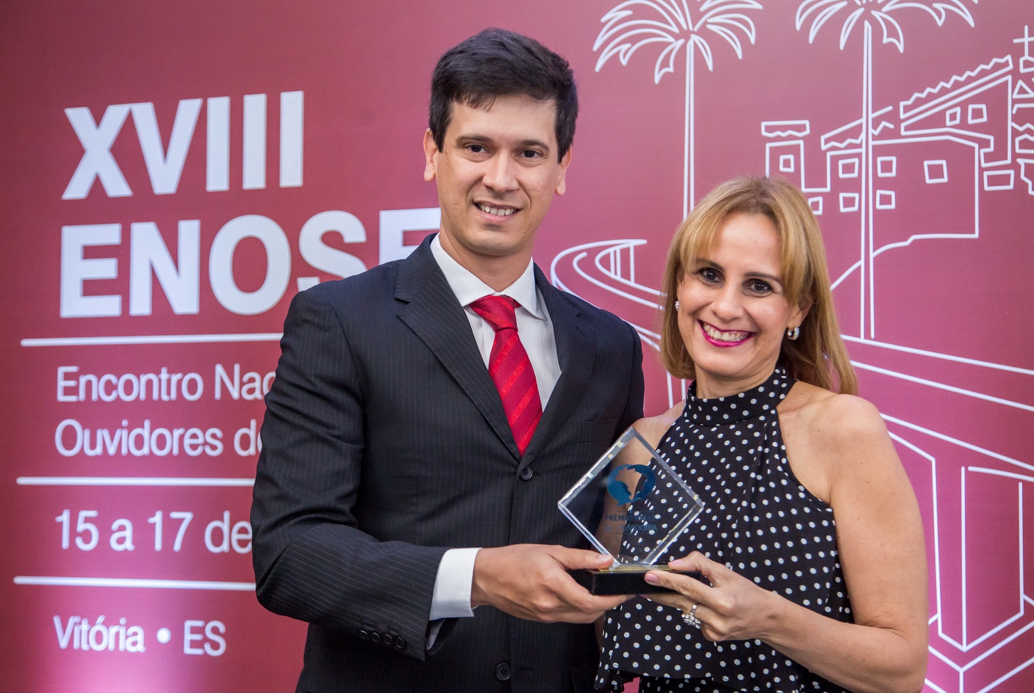 Diretor Ouvidor da ANEL, Rodrigo Limp e Márcia Lins, Executiva de Ouvidoria da  Cemar