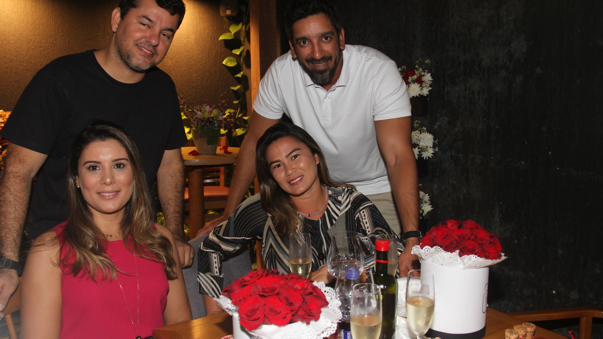 Maiara Castro e Davi Nunes com Melissa Minohana e Pedro Gustavo.