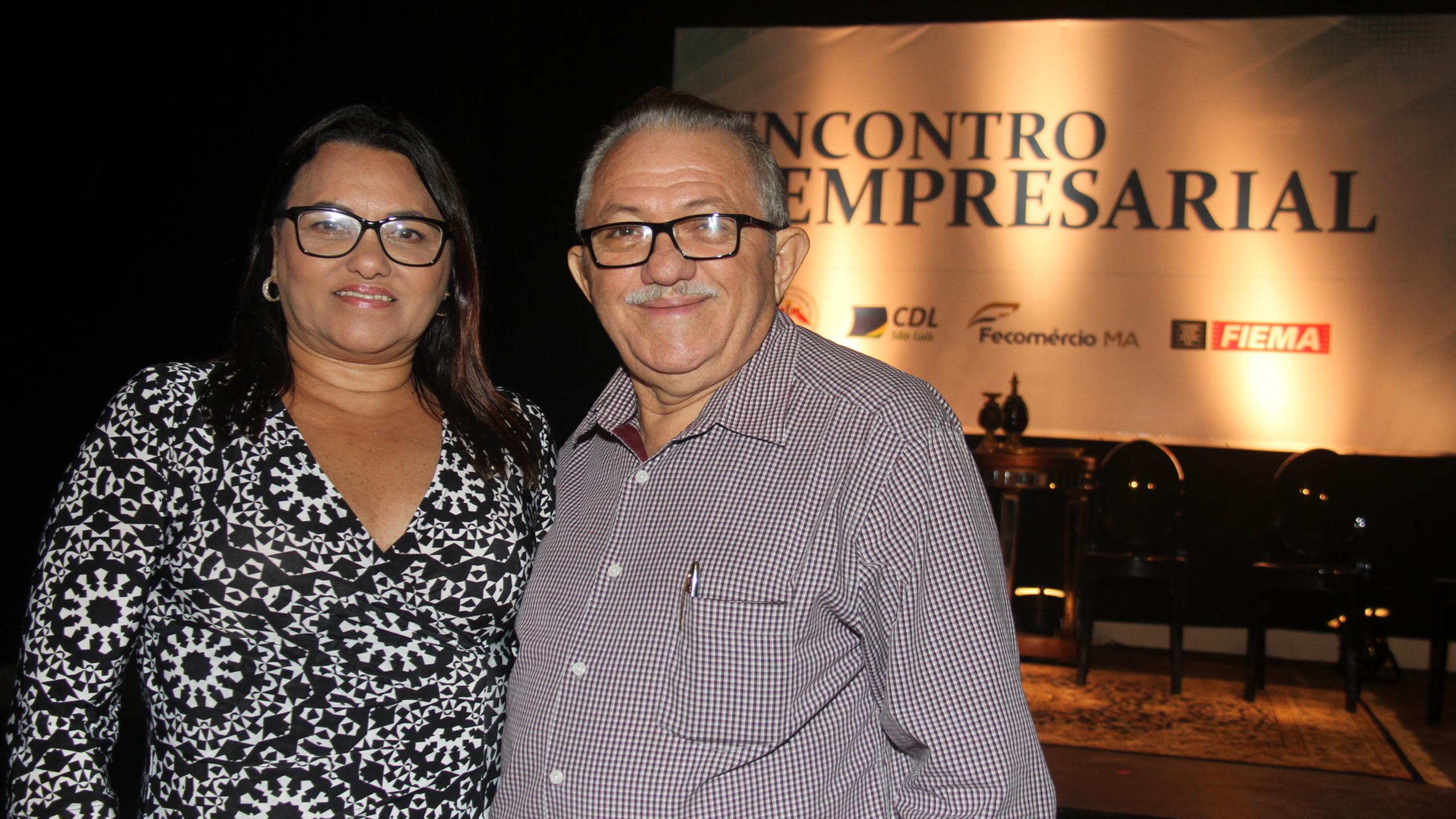 Socorro Noronha, Pres. da FCDL-MA e Antonio Fróes, assessor da CDL SLZ.