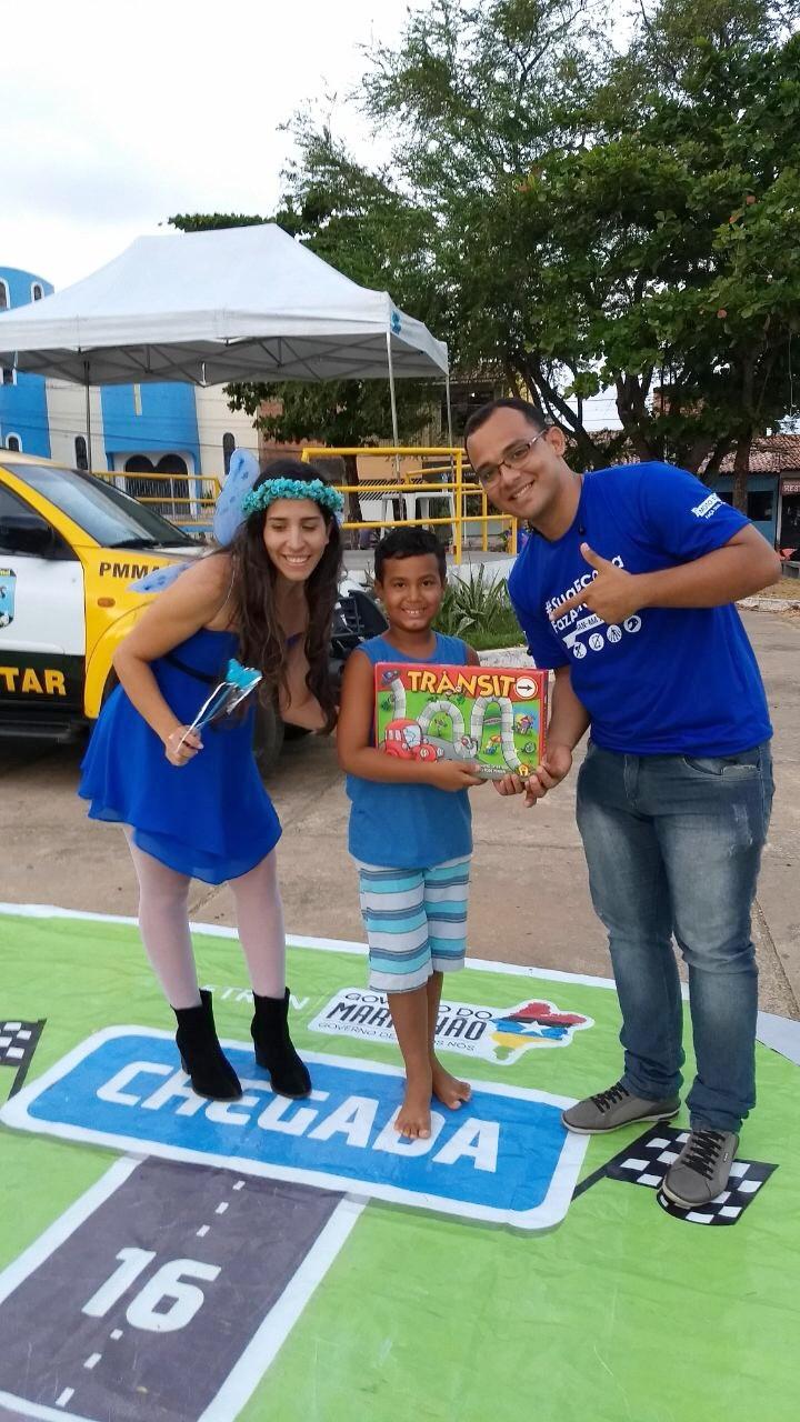 Atividades educativas promovidas pelo Detran/MA no bairro Vila Palmeira, em São Luís. (Foto: Divulgação)