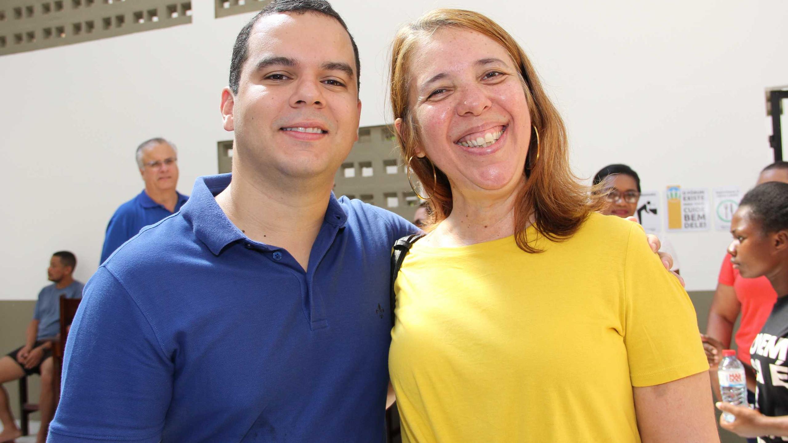 O Sec. de Governo Diego Galdino e a Sec. Flávia Alexandrina (SEGEP).