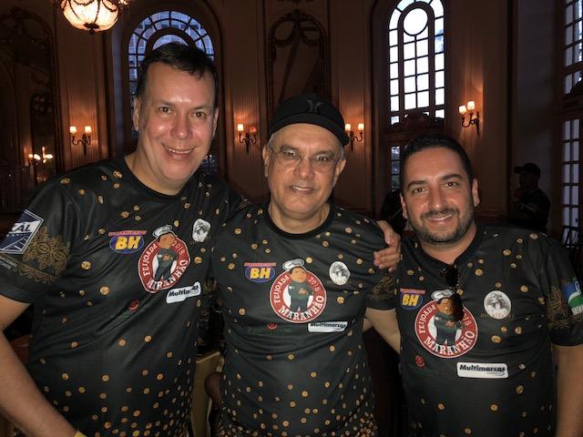 Cláudio José e Flávio Meira do RJ com José Domingues Neto.