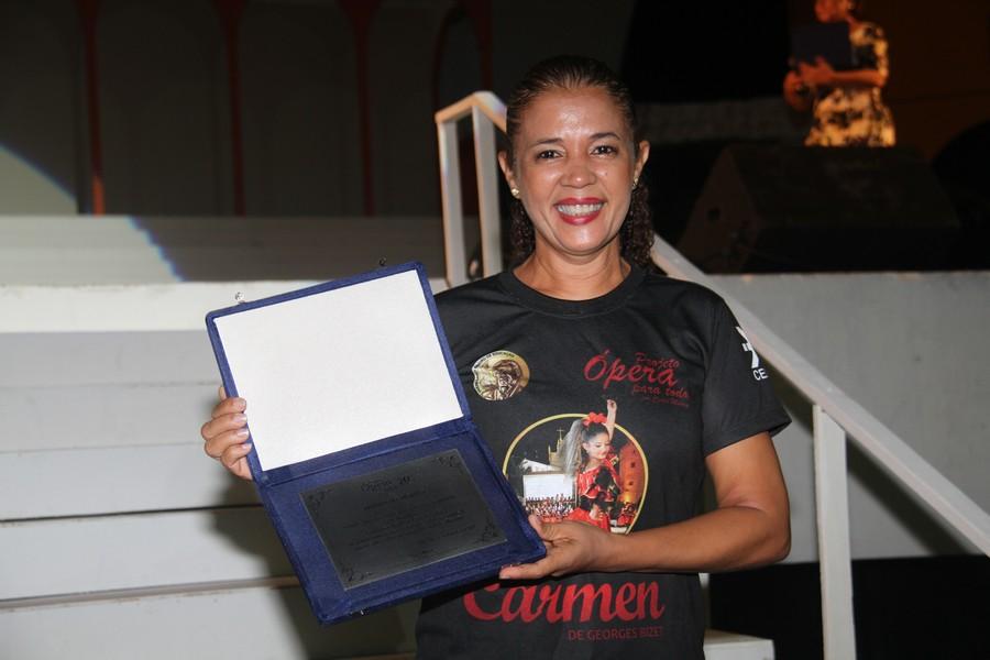 A coreógrafa Concita Garcia, que atua no projeto desde a primeira ópera concebida por Ceres.