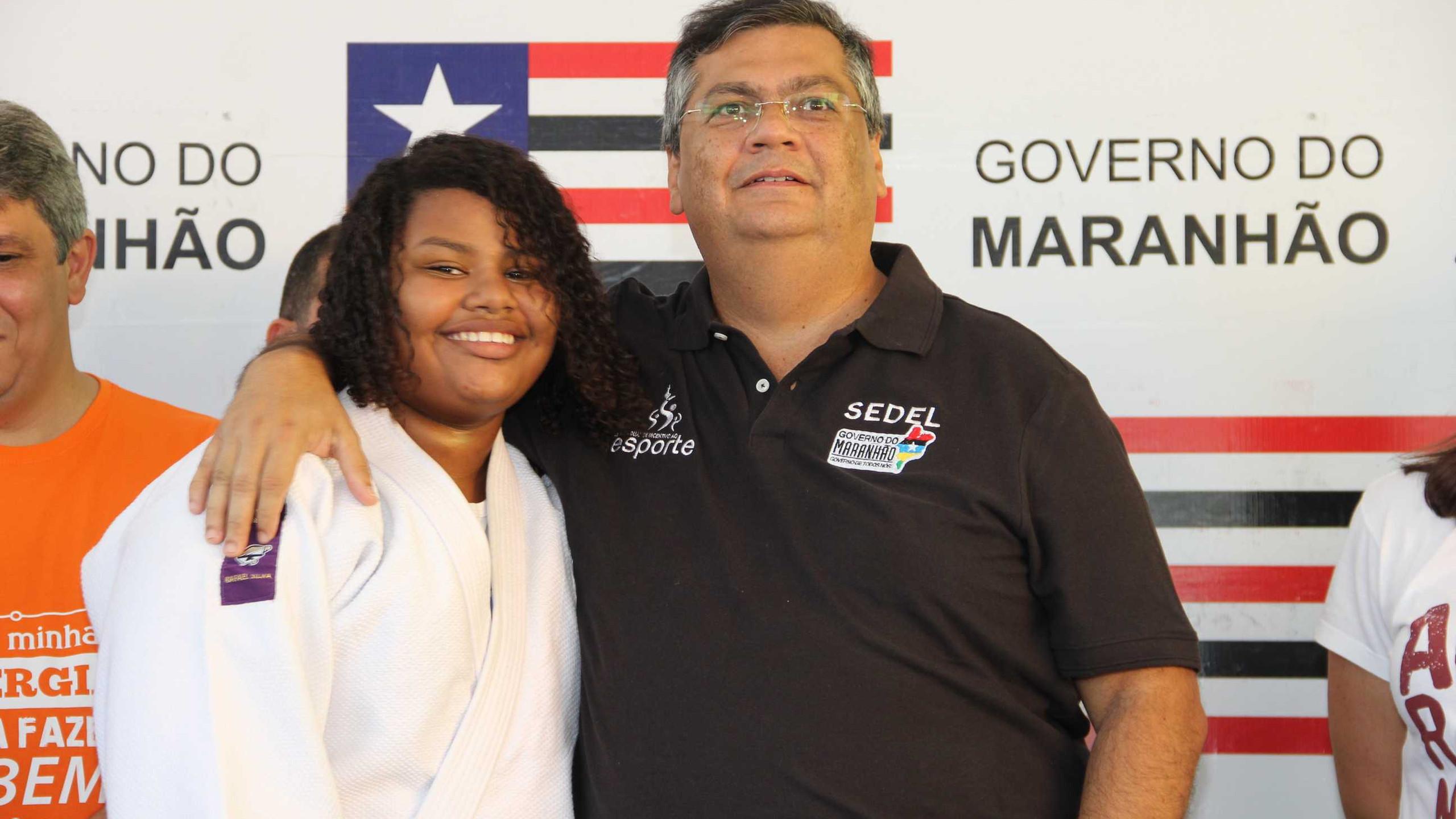 A atleta de judô do projeto Maria Luiza Birino que vem se destacando nacionalmente com o Gov. Flávio Dino.