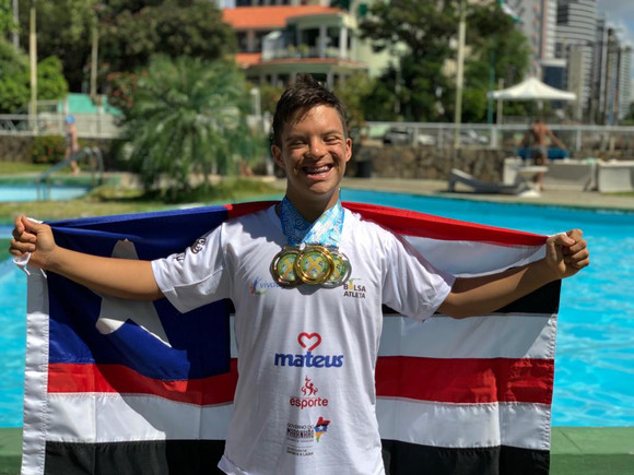 Campeão brasileiro, Davi Hermes disputará as Paralimpíadas Escolares