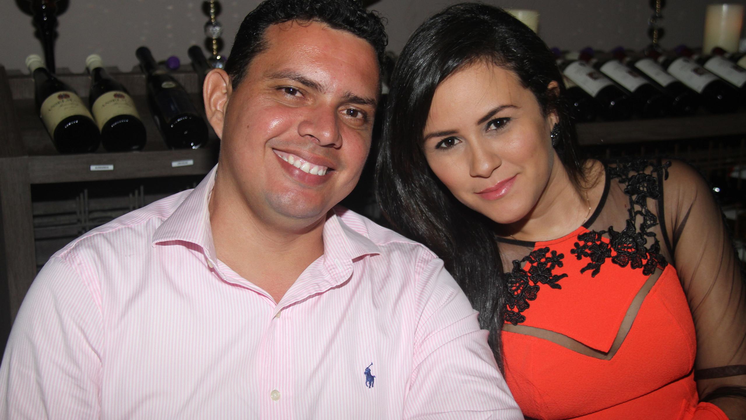 O casal Hudson e Lorena Rocha.
