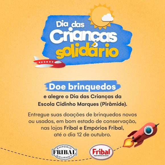 FRIBAL PROMOVE DIA DAS CRIANÇAS SOLIDÁRIO