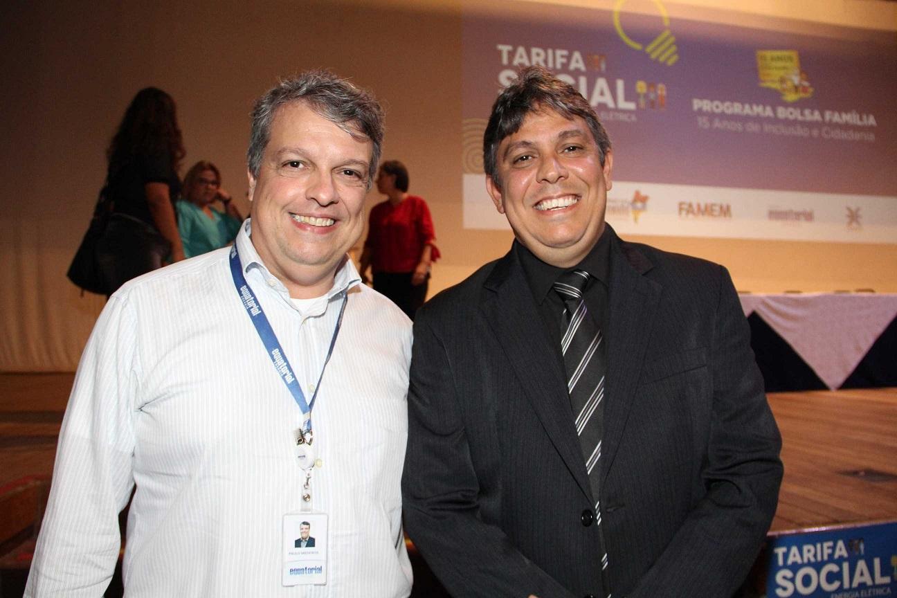 Paulo Medeiros, Superintendente Corporativo de Experiência do Cliente e Augusto Dantas, Presidente da Cemar.