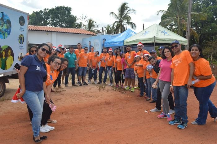 Chegada dos voluntários na ação em Rosário
