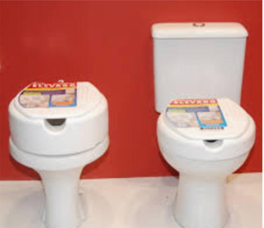 Assentos sanitários mais altos são ideais para idosos, e estão em oferta no Festival Potiguar de Banheiro & Cozinha.