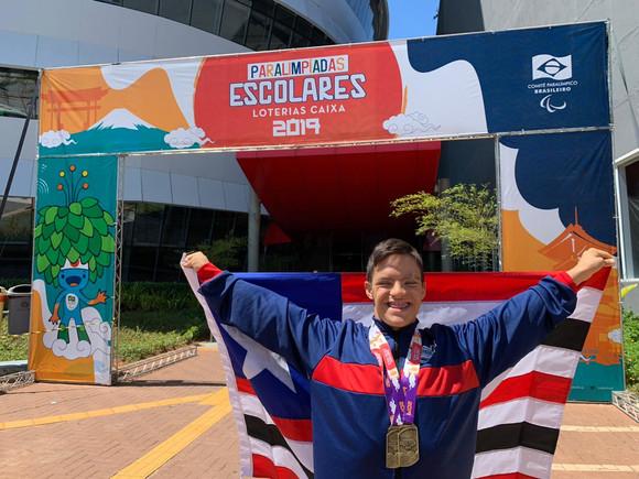 Paralimpíadas: Davi Hermes brilha e fatura dois ouros para o Maranhão