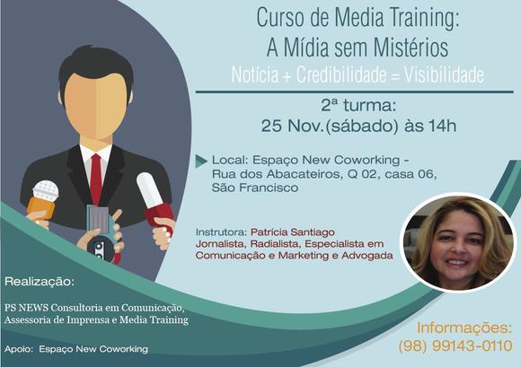 Curso de  MediaTraining vai capacitar geradores de notícias em São Luís