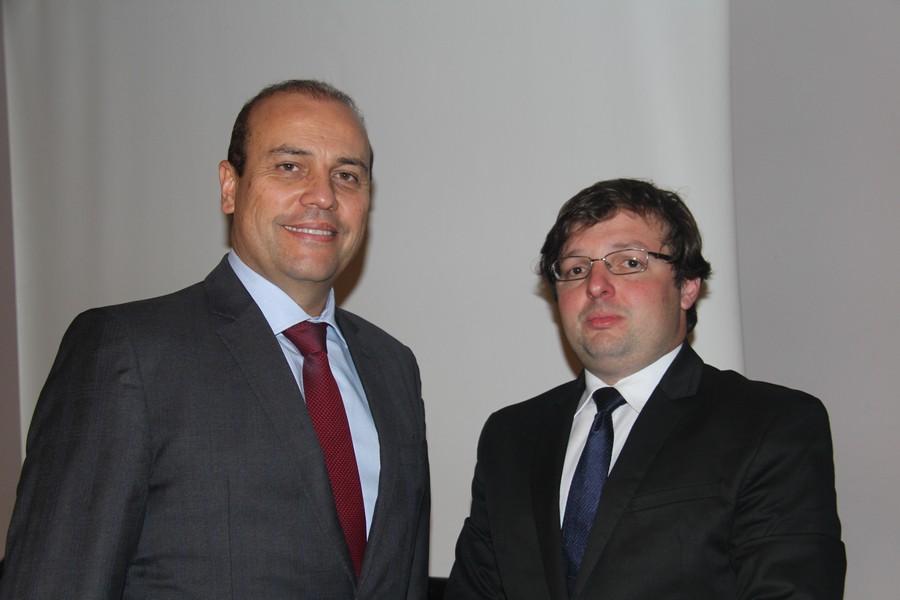 Os palestrantes convidados e renomados advogados Alexandre Atheniense e João Addario Jr.