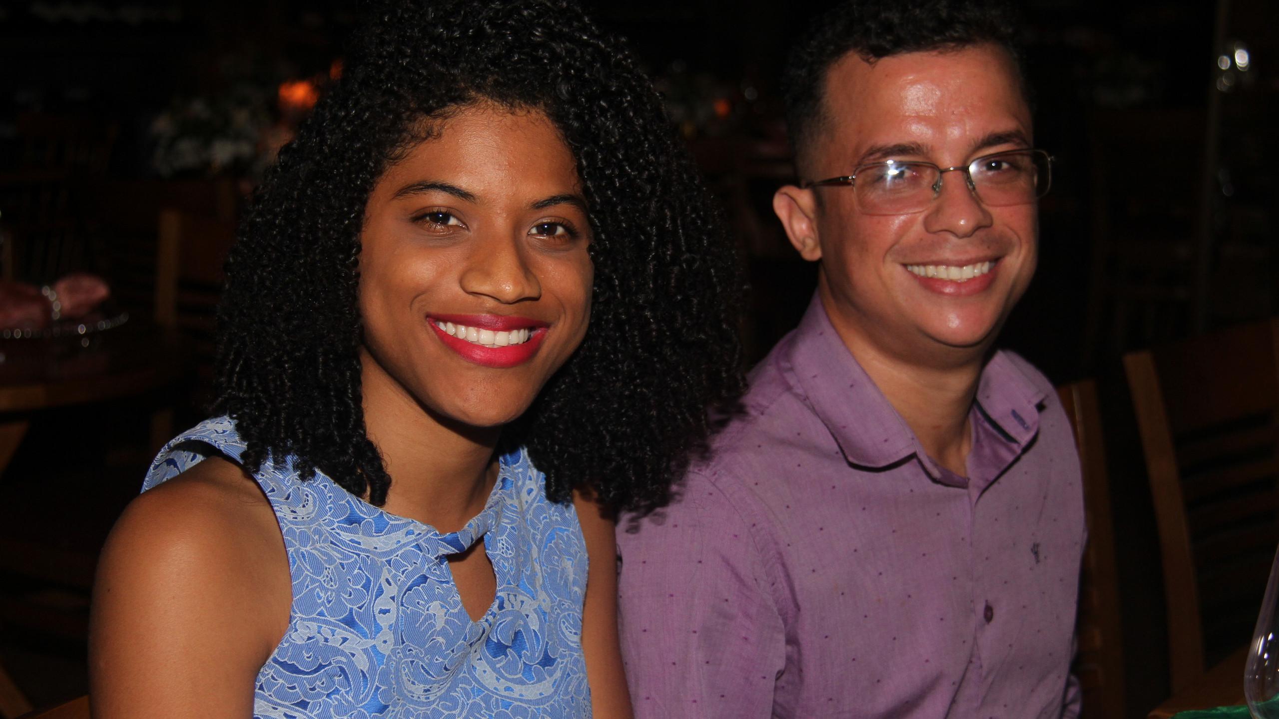 Os irmãos Paula Soares e Kaio Oliveira.