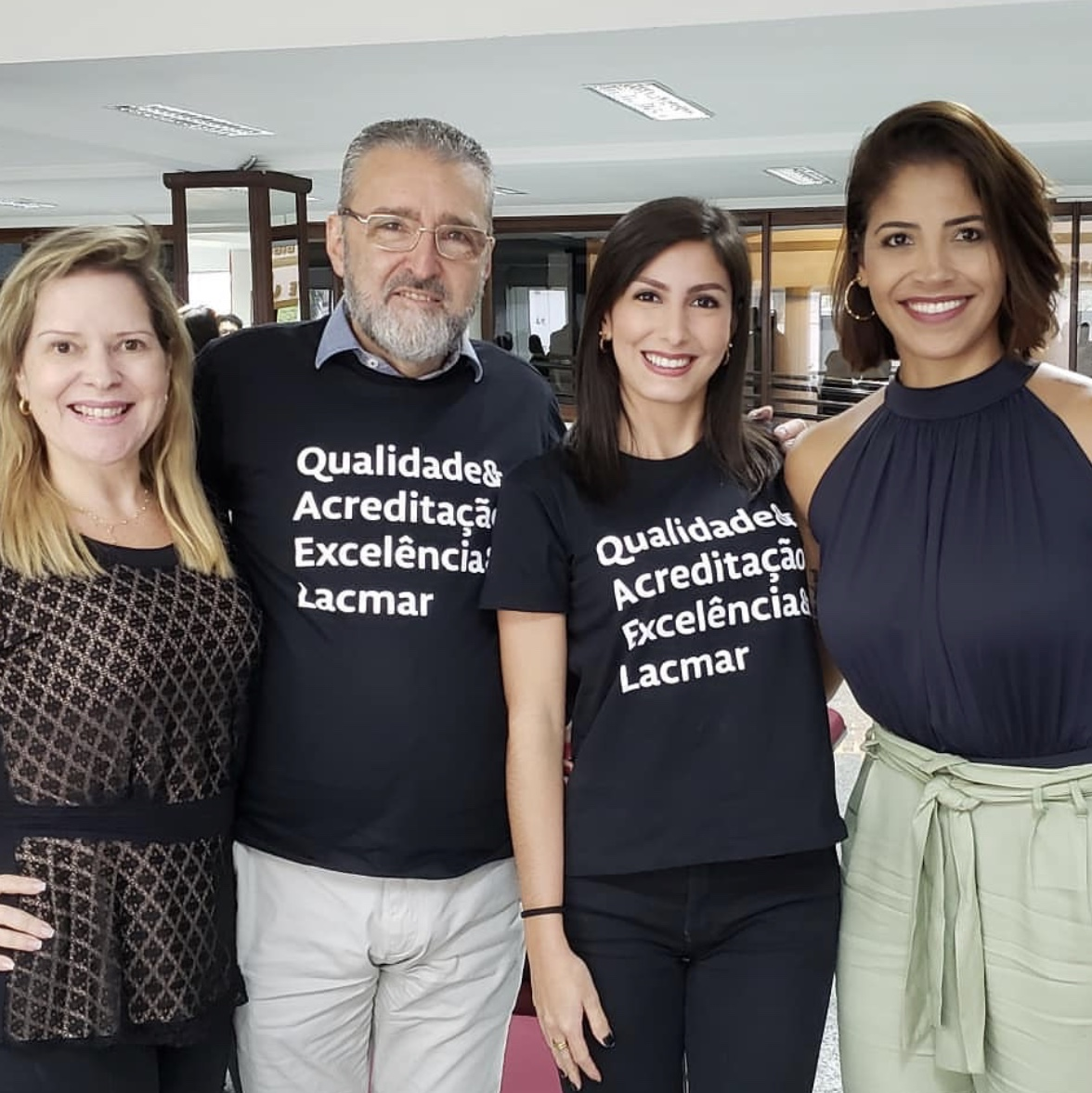 Executivos do Grupo Mercúrio Chrystiane Vasconcelos e Plínio Tuzzolo (HSLZ), Vivianne Lopes (Lacmar) e Mônica Moura (Rede Clínicas Dignus).